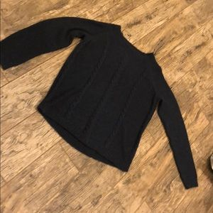 Navy cable detail sweater with sparkle size L
